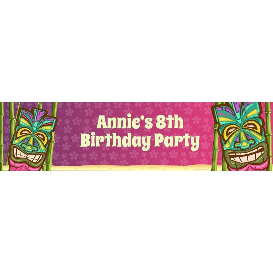 View larger image of Tiki Party Personalized Banner (each)