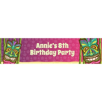 Tiki Party Personalized Banner (each)
