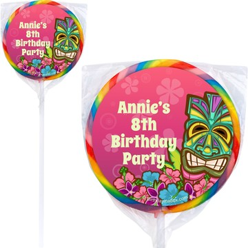 Tiki Party Personalized Lollipops (pack of 12)