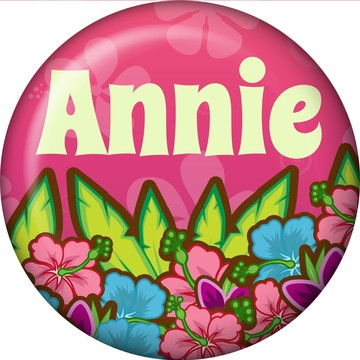 Tiki Party Personalized Mini Button (each)