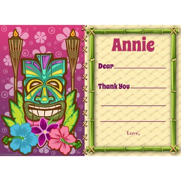 Tiki Party Personalized Thank You Note (each)