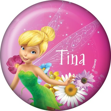 Tinkerbell Personalized Button (Each)