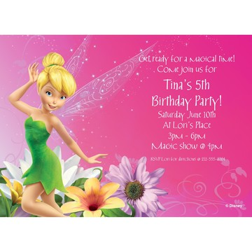 Tinkerbell Personalized Invitation (Each)