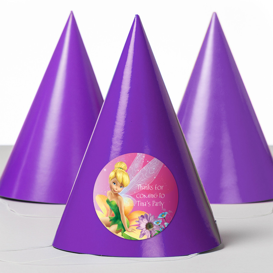 View larger image of Tinkerbell Personalized Party Hats (8 Count)