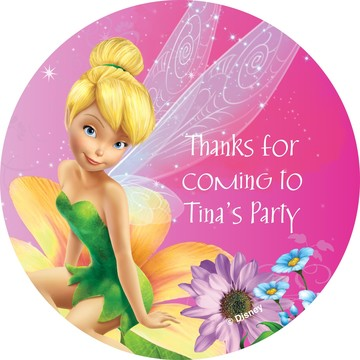 Tinkerbell Personalized Stickers (Sheet of 12)