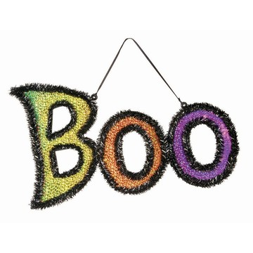 Tinsel Boo Sign
