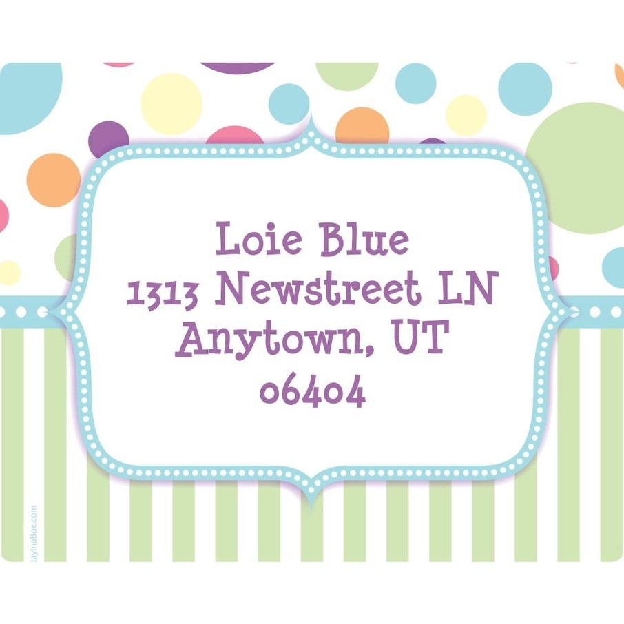 View larger image of Tiny Bundle Blue Personalized Address Labels (Sheet of 15)