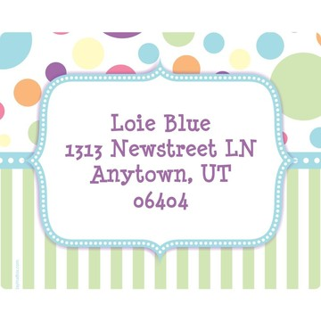 Tiny Bundle Blue Personalized Address Labels (Sheet of 15)