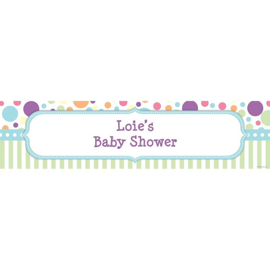 View larger image of Tiny Bundle Blue Personalized Banner (Each)