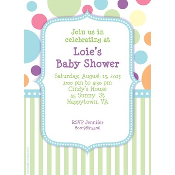 Tiny Bundle Blue Personalized Invitation (Each)