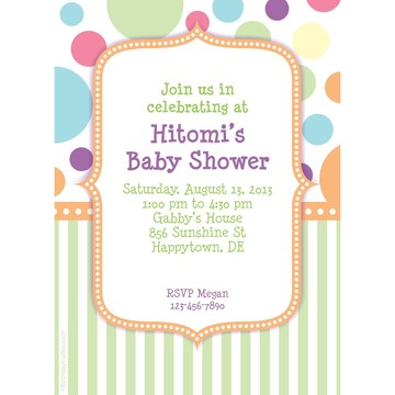 Tiny Bundle Neutral Personalized Invitation (Each)