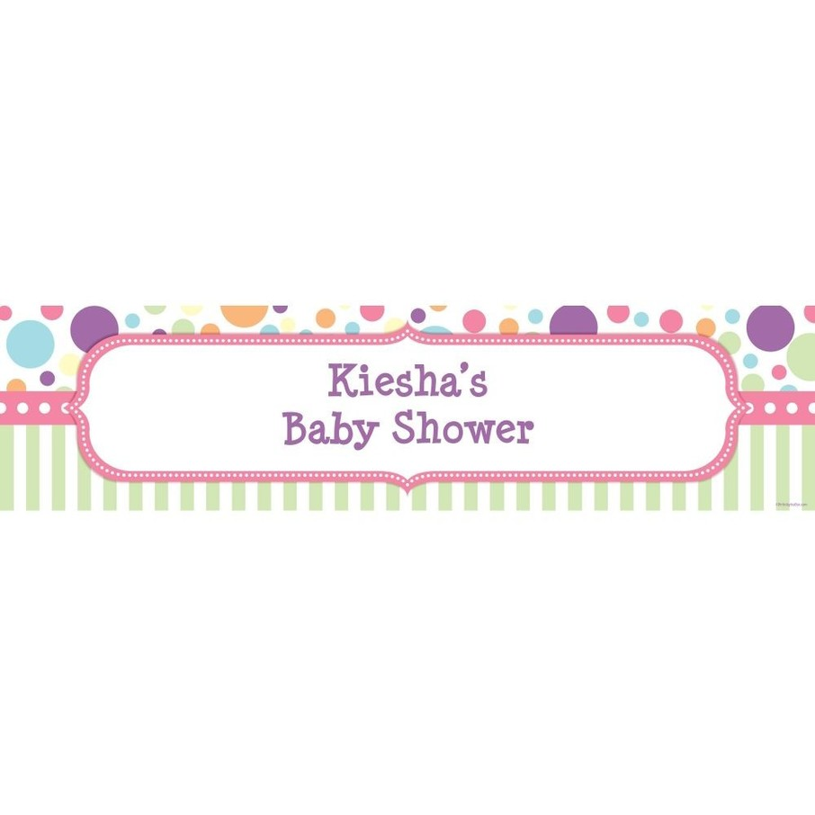 View larger image of Tiny Bundle Pink Personalized Banner (Each)