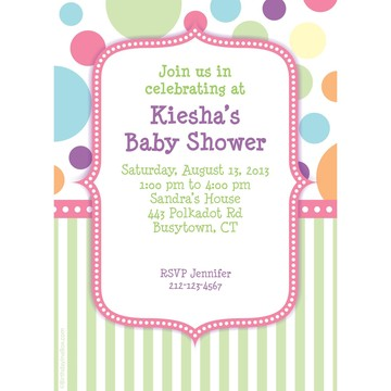 Tiny Bundle Pink Personalized Invitation (Each)