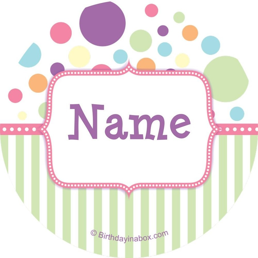 View larger image of Tiny Bundle Pink Personalized Mini Stickers (Sheet of 24)