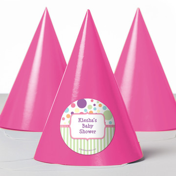 Tiny Bundle Pink Personalized Party Hats (8 Count)