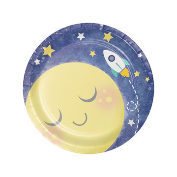 "To the Moon Back 7"" Dessert Plates (8)"