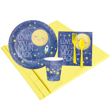 To The Moon Back 8 Guest Party Pack
