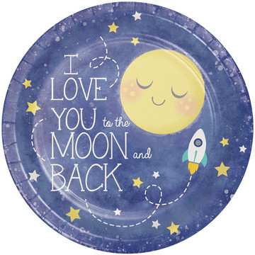 "To the Moon Back 9"" Dinner Plates (8)"