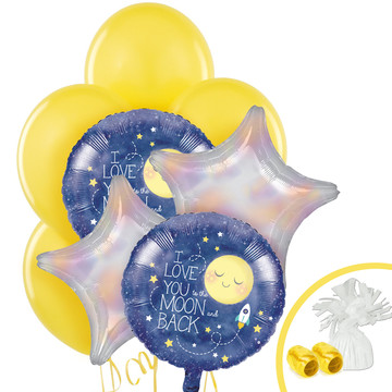 To The Moon Back Balloon Bouquet