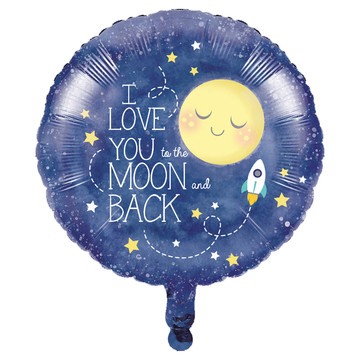 To the Moon Back Foil Balloon