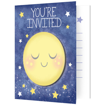 To the Moon Back Invitations (8)