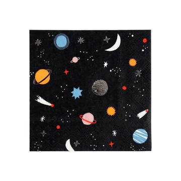 To The Moon Beverage Napkins, 16ct