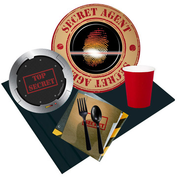 Top Secret Spy 16 Guest Party Pack