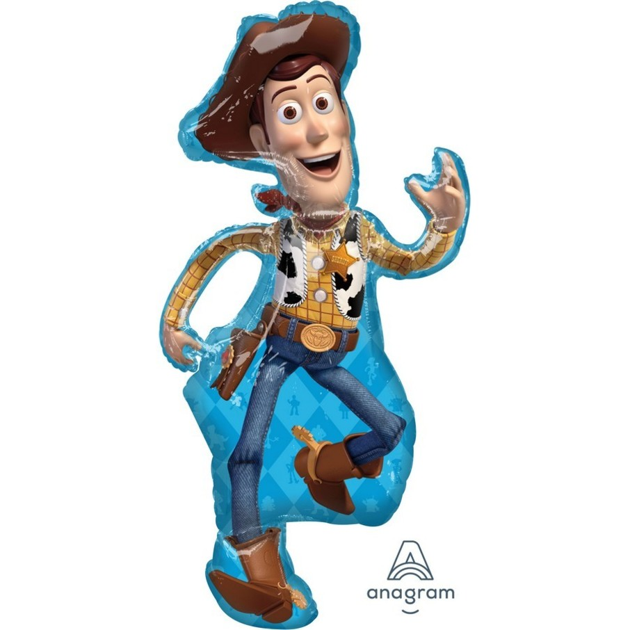 View larger image of Toy Story 4 Woody 44 Jumbo Shaped Foil Balloon