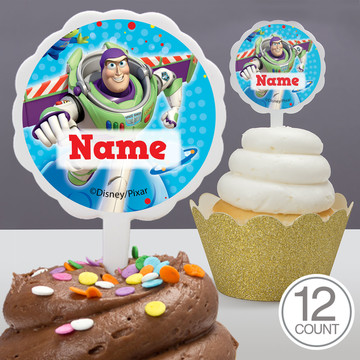 Toy Story Personalized Cupcake Picks (12 Count)