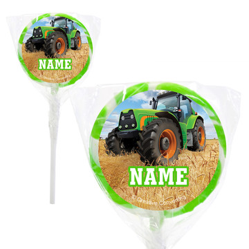"Tractor Time Personalized 2"" Lollipops (20 Pack)"