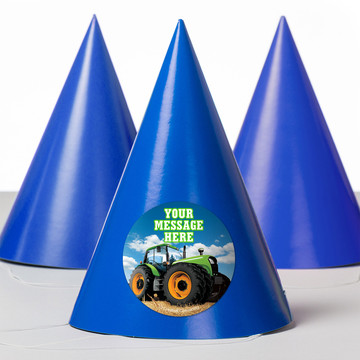 Tractor Time Personalized Party Hats (8 Count)