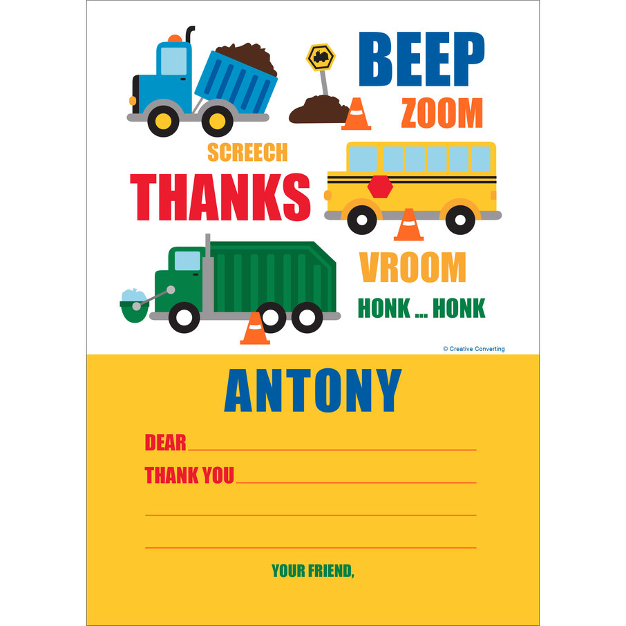 View larger image of Traffic Jam Personalized Thank You (Each)