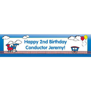 Train Party Personalized Banner (each)