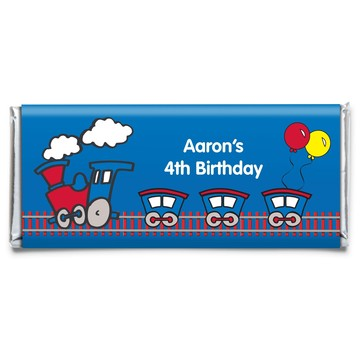 Train Party Personalized Candy Bar Wrapper (Each)