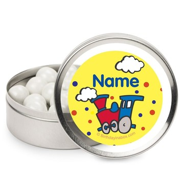 Train Party Personalized Candy Tins (12 Pack)