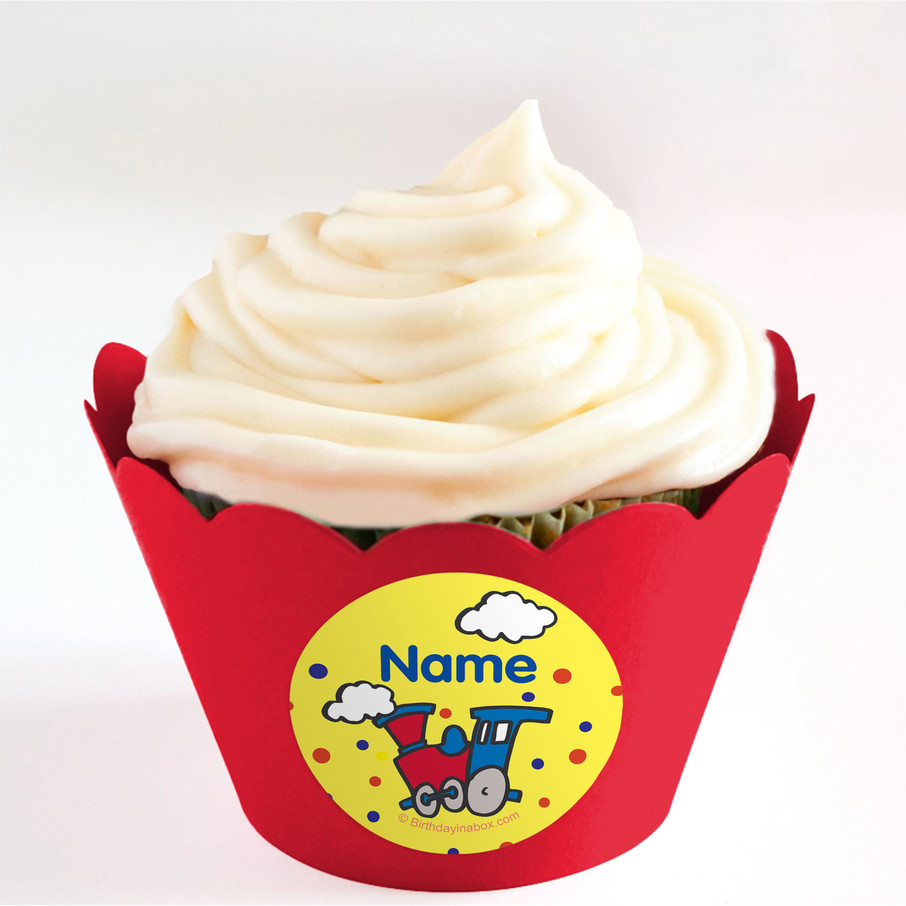 View larger image of Train Party Personalized Cupcake Wrappers (Set of 24)