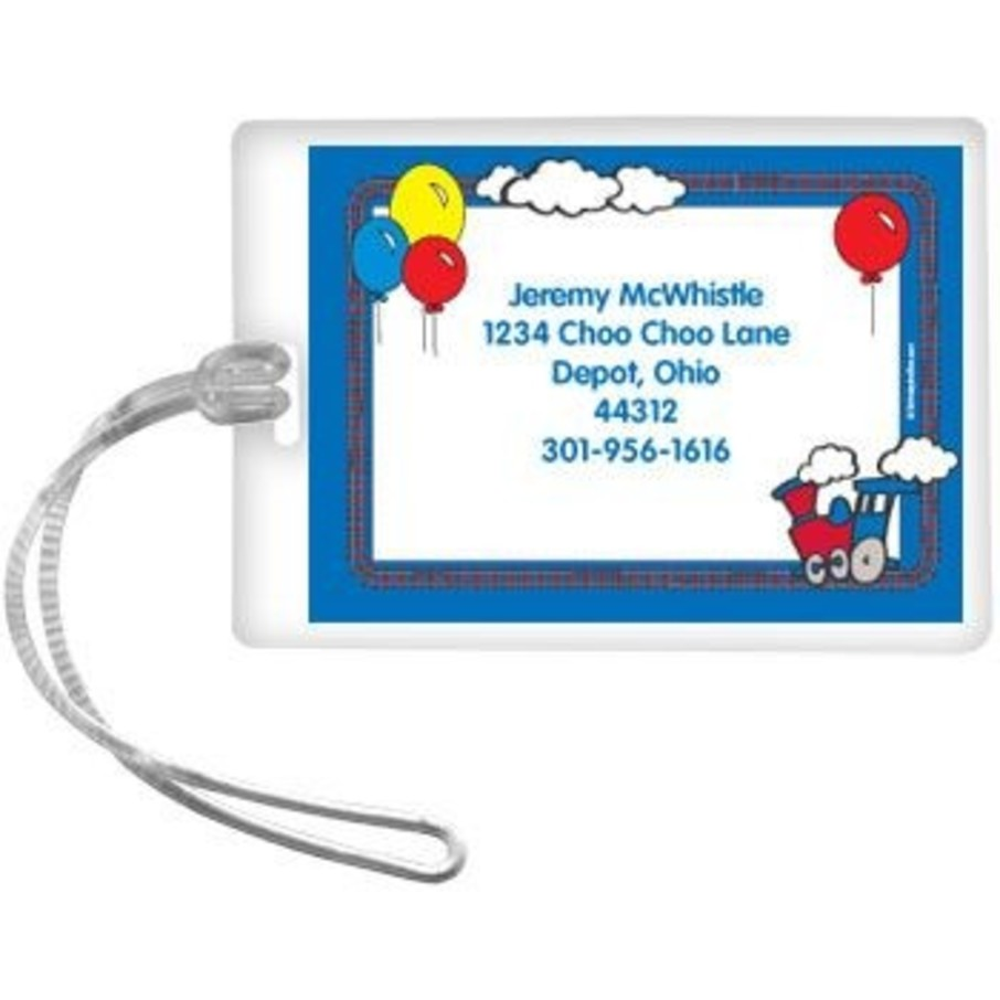 View larger image of Train Party Personalized Luggage Tag (each)