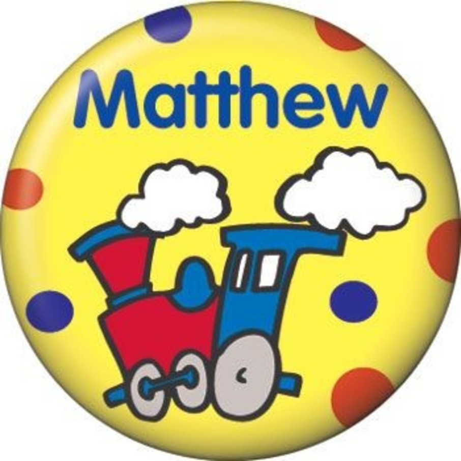 View larger image of Train Party Personalized Mini Button (each)