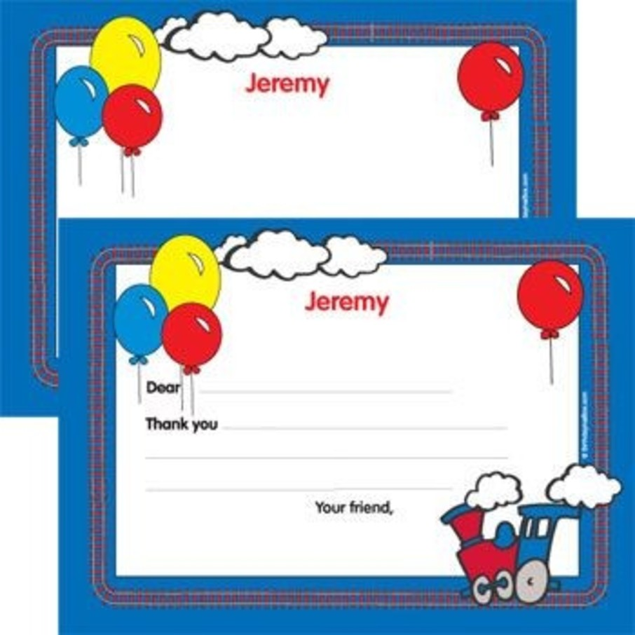 View larger image of Train Party Personalized Thank You Note (each)