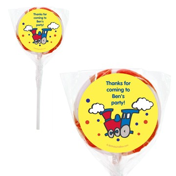 Train Personalized 2#34; Lollipops (20 Pack)