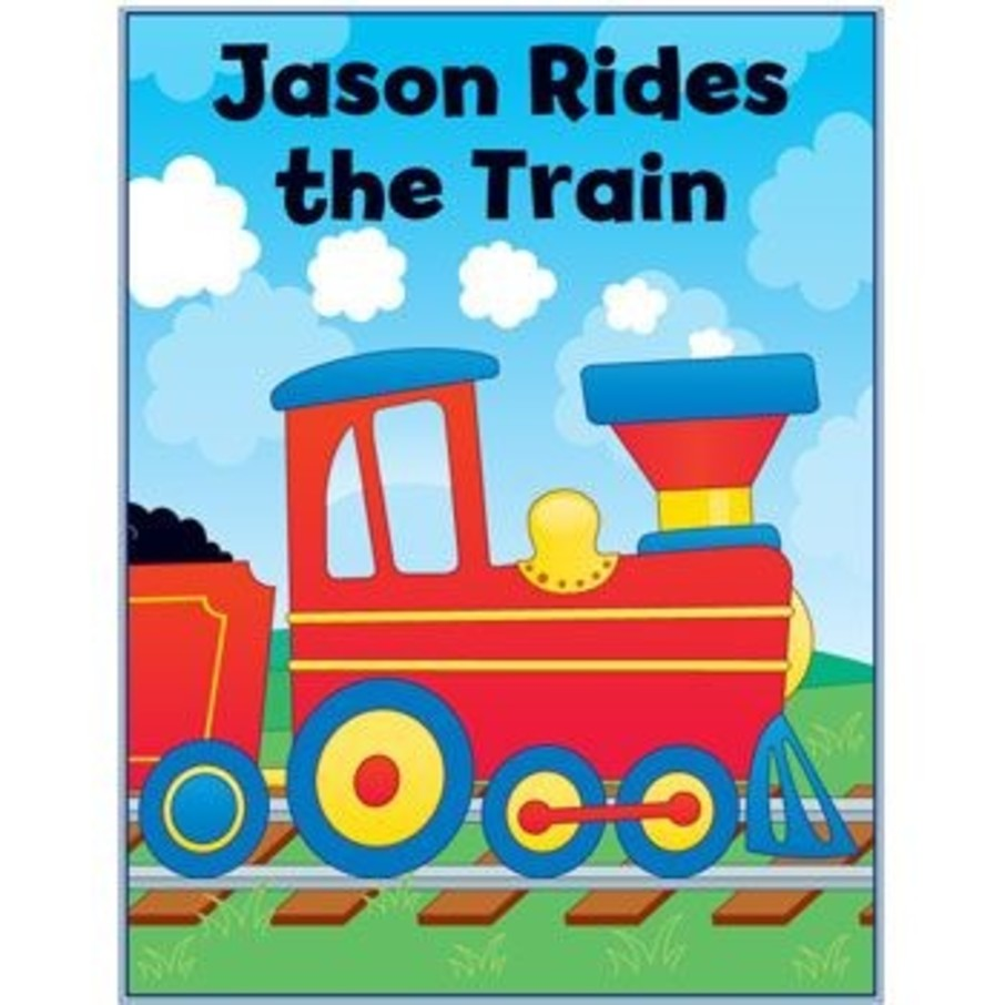 View larger image of Train Personalized Coloring Book (each)