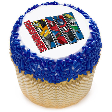 "Transformers 2"" Edible Cupcake Topper (12 Images)"