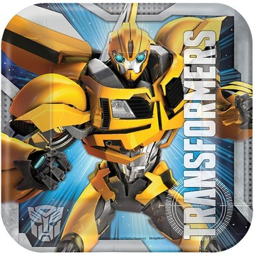 """Transformers 7"""" Cake Plates (8 Pack)"""