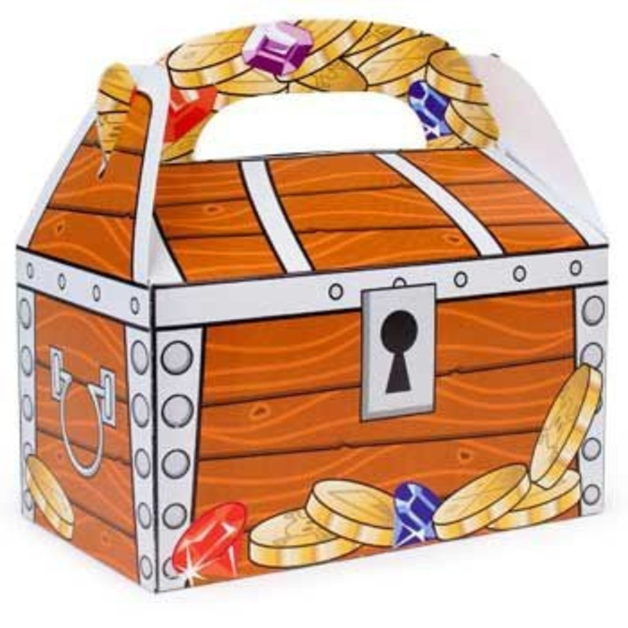 View larger image of Treasure Chest Favor Box (12-pack)