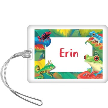 Tree Frog Personalized Bag Tag (each)
