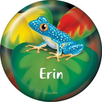 Tree Frog Personalized Button (each)