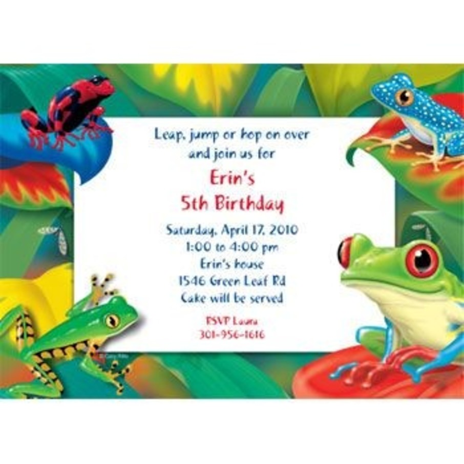 View larger image of Tree Frog Personalized Invitation (each)