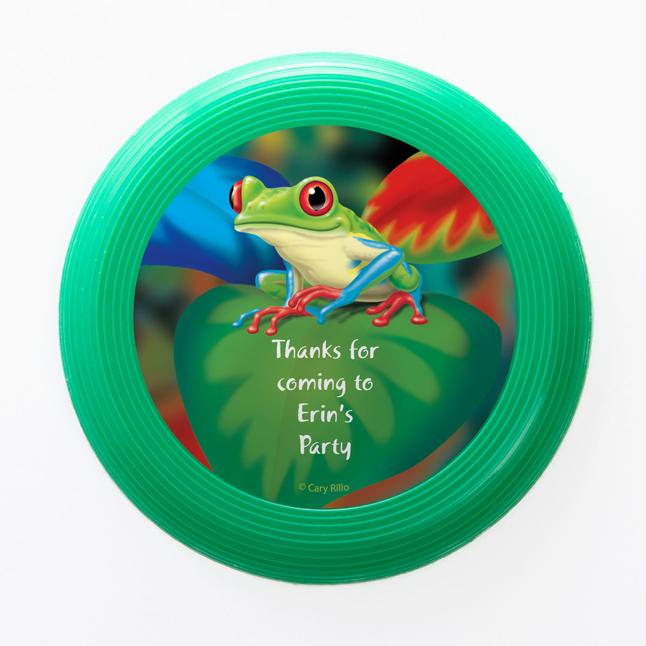 View larger image of Tree Frog Personalized Mini Discs (Set of 12)