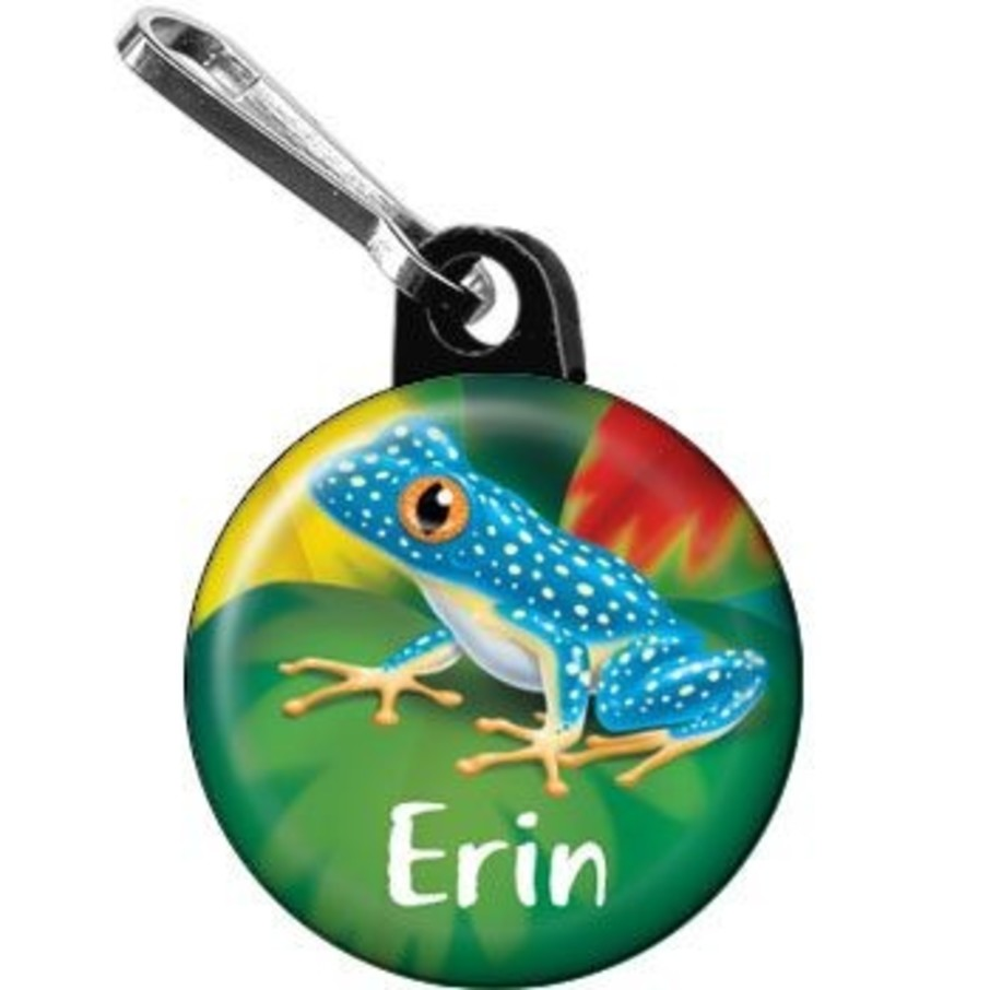 View larger image of Tree Frog Personalized Mini Zipper Pull (each)