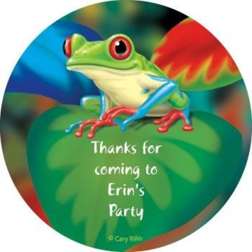 Tree Frog Personalized Stickers (sheet of 12)